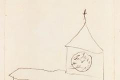 Kirche, die Uhr mit erfundenen Zahlen, 1883,17