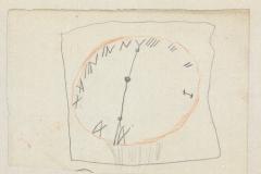 Uhr mit römischen  Zahlen, 1884,16