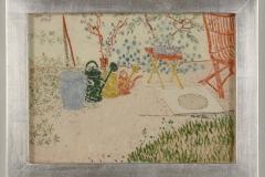 Gartenszene, (Giesskañen, E. Katze, E. Roter Stuhl), 1905,24