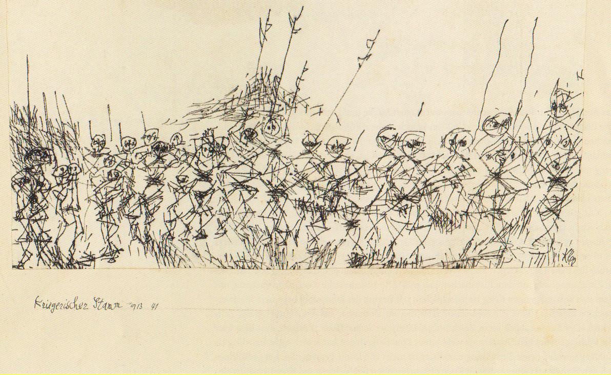 Kriegerischer Stamm, 1913, 41