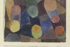 Abstract, farbige Kreise durch Farbbänder verunden, 1914, 218