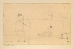 Strassenskizze aus Kairuan, 1914, 29