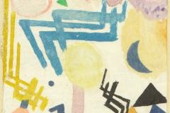 Landschaftliches Hieroglyph mit Betonung des Himmelsblau, 1917, 104