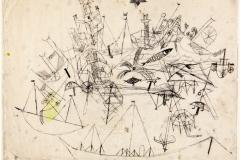 Zeichnung zum Unstern der Schiffe, 1917, 152