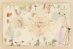 Landschaft mit fliegenden Vögeln, einer v Pfeil durchbohrt, 1918, 191