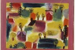 Dorflandschaft (mit Kugelbäumen u. Tannen), 1919,2344