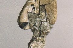 Kopf aus einem im Lech geschliffenen Ziegelstück, 1919,33