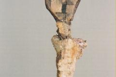 Kopf aus einem im Lech geschliffenen Ziegelstück, 1919,34