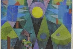 Landschaft m. d. aufgehenden Vollmond, 1919,148