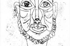 Maske, 1919,76 (Mann mit Seemannsbart)