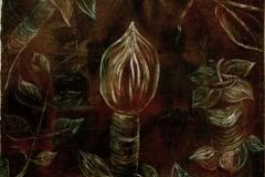 Decoratives Pflanzenbild - Die Knospe, 1920, 21