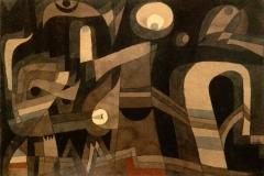 Nachts(grün_indischrot, düster), 1921,80