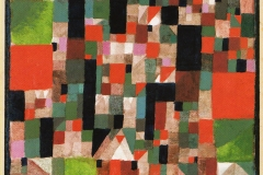 Städtebild (rot grüne Accente), 1921,175