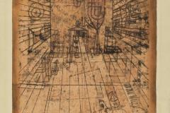 Zimmerperspective mit Einwohnern 1921,24