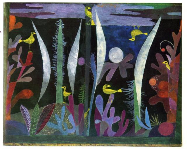 Landschaft mit gelben Vögeln, 1923,32