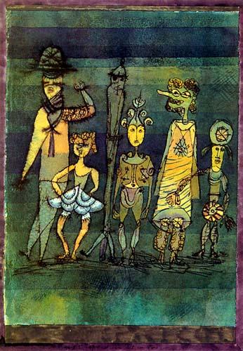 Masken auf Wiese, 1923,97