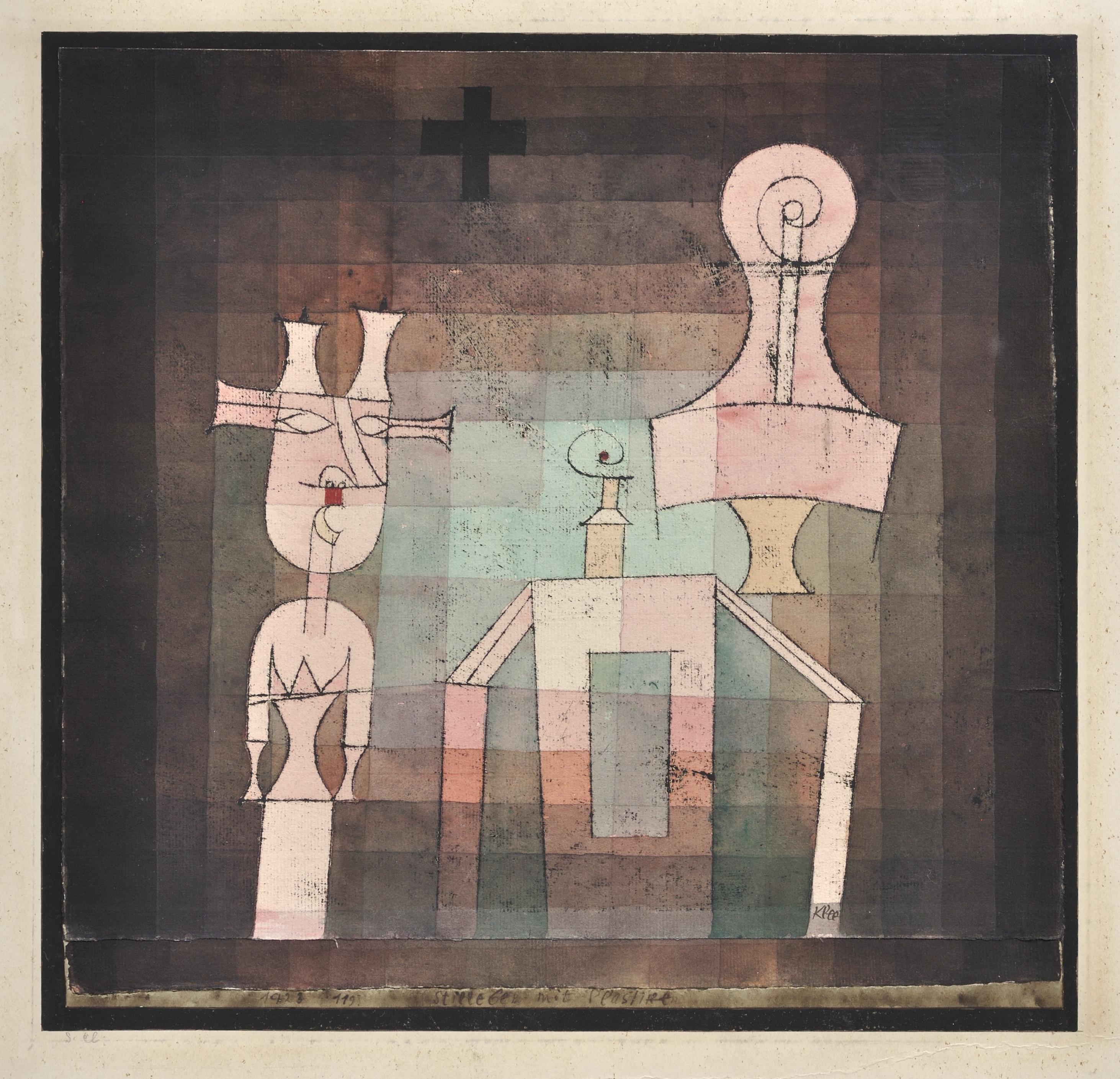 Stilleben mit Plastiken, 1923,119