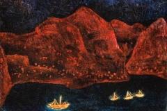 Südliche Küste abends, 1925,195 (T 5)