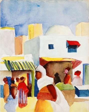 Markt in Tunis I, 1914. August Macke (1887-1914)