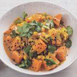 Süsskartoffel-Lauch-Curry