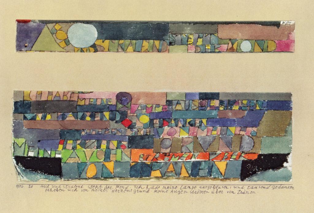 Hoch und stralend steht der Mond..., 1916,20