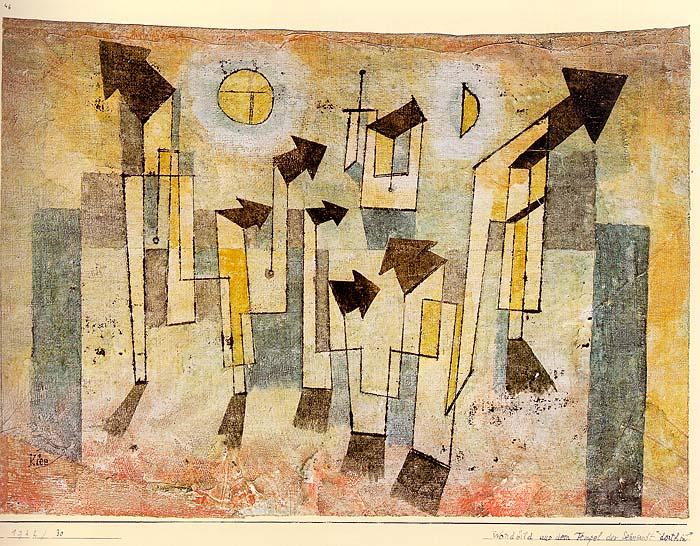 Wandbild aus dem Tempel der Sehnsucht Dorthin 1922,30
