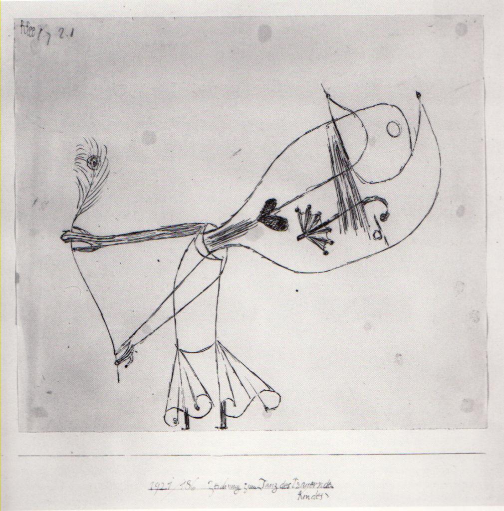 Zeichnung zum (Tanz des trauernden Kindes), 1921,186