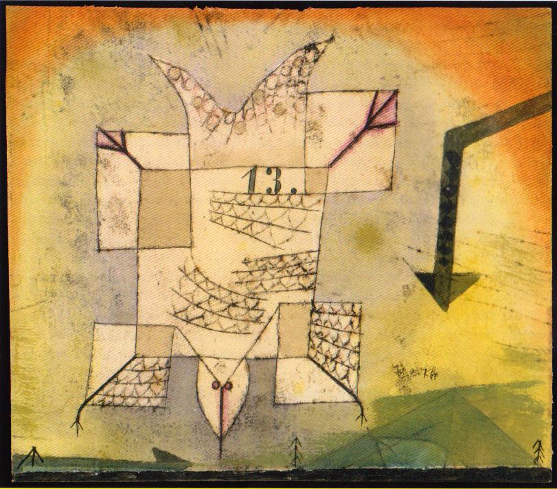 Abstürzender Vogel, 1919,206