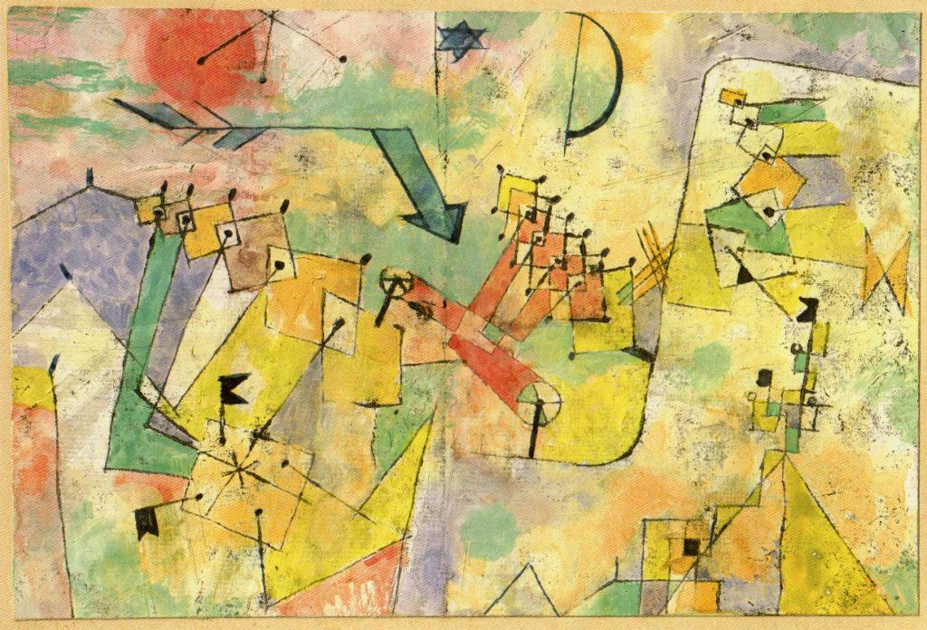 Kosmisch-maschinell (mit dem Winkelpfeil), 1919,200