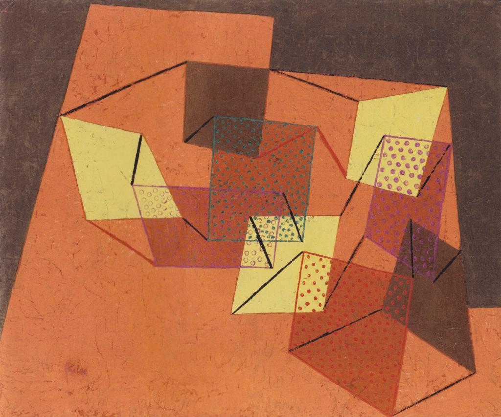 Verspannte Flächen, 1930,125 (W 5)